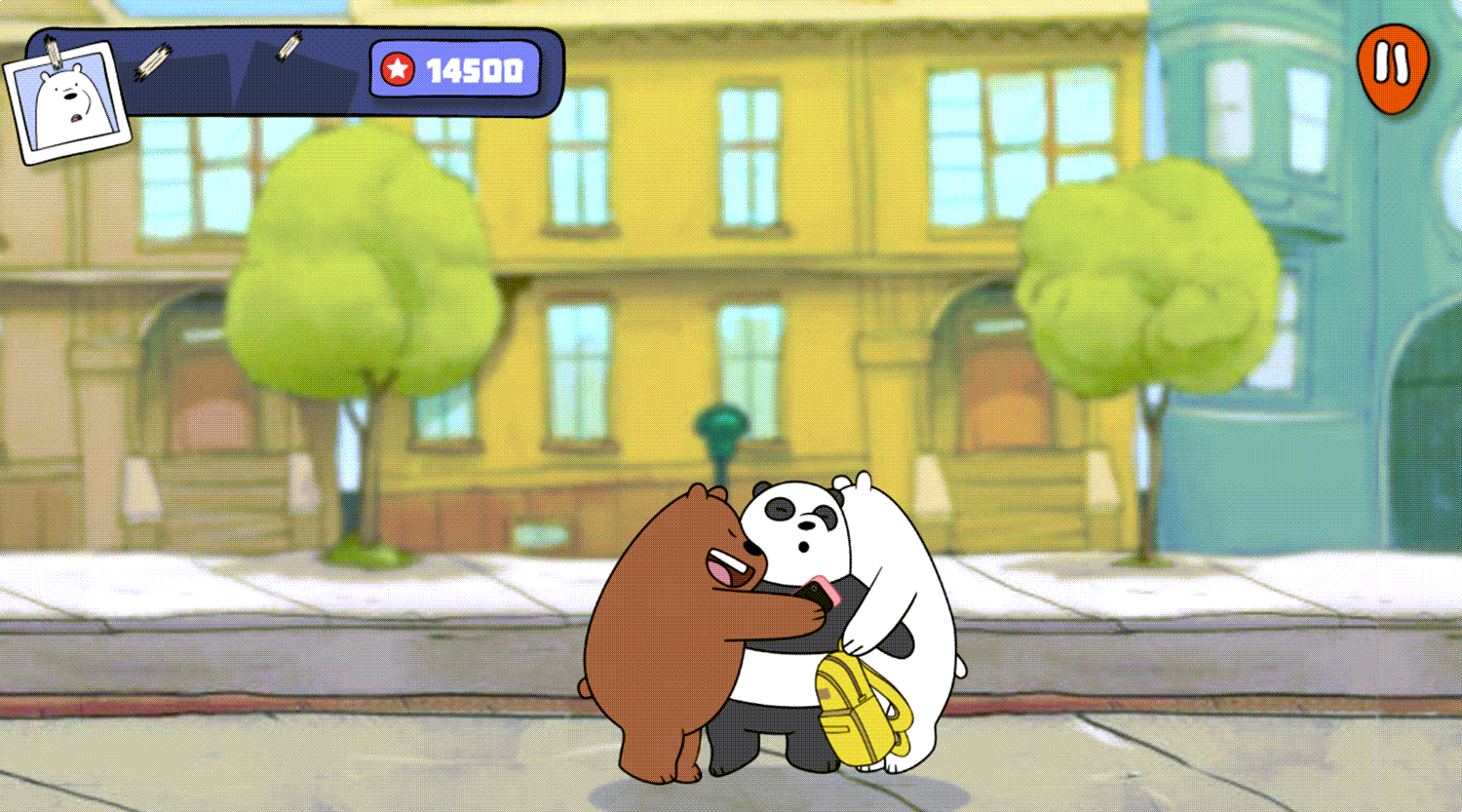 We Bare Bears Feathered Chase Game Beat Screenshot.