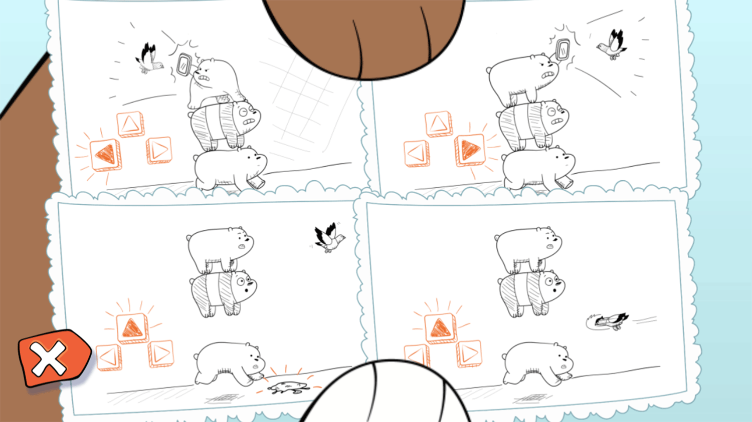 We Bare Bears Feathered Chase How To Play Screenshot.
