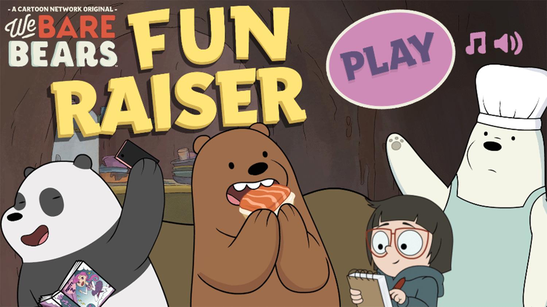 We Bare Bears Fun Raiser Welcome Screen Screenshots.