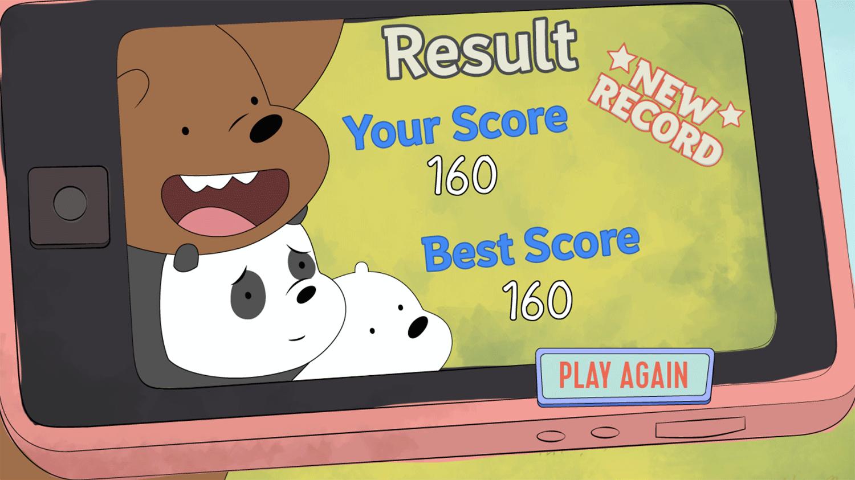We Bare Bears Impawsible Fame Result Screenshot.