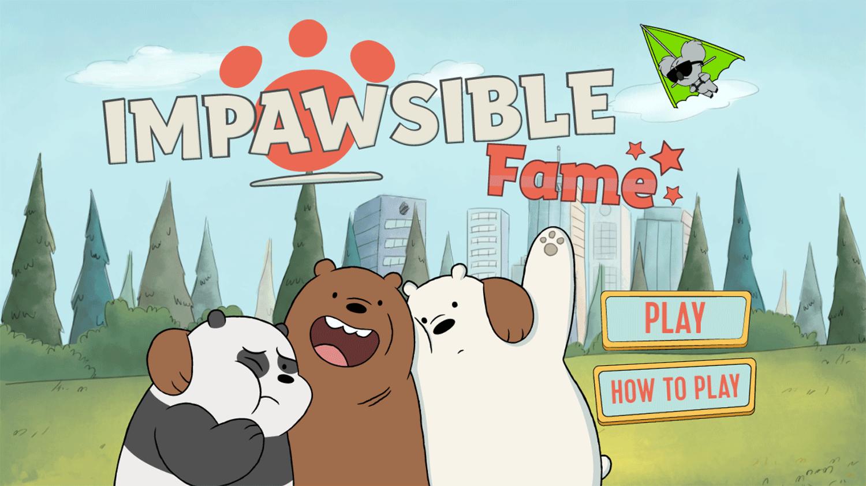 We Bare Bears Impawsible Fame Welcome Screen Screenshot.