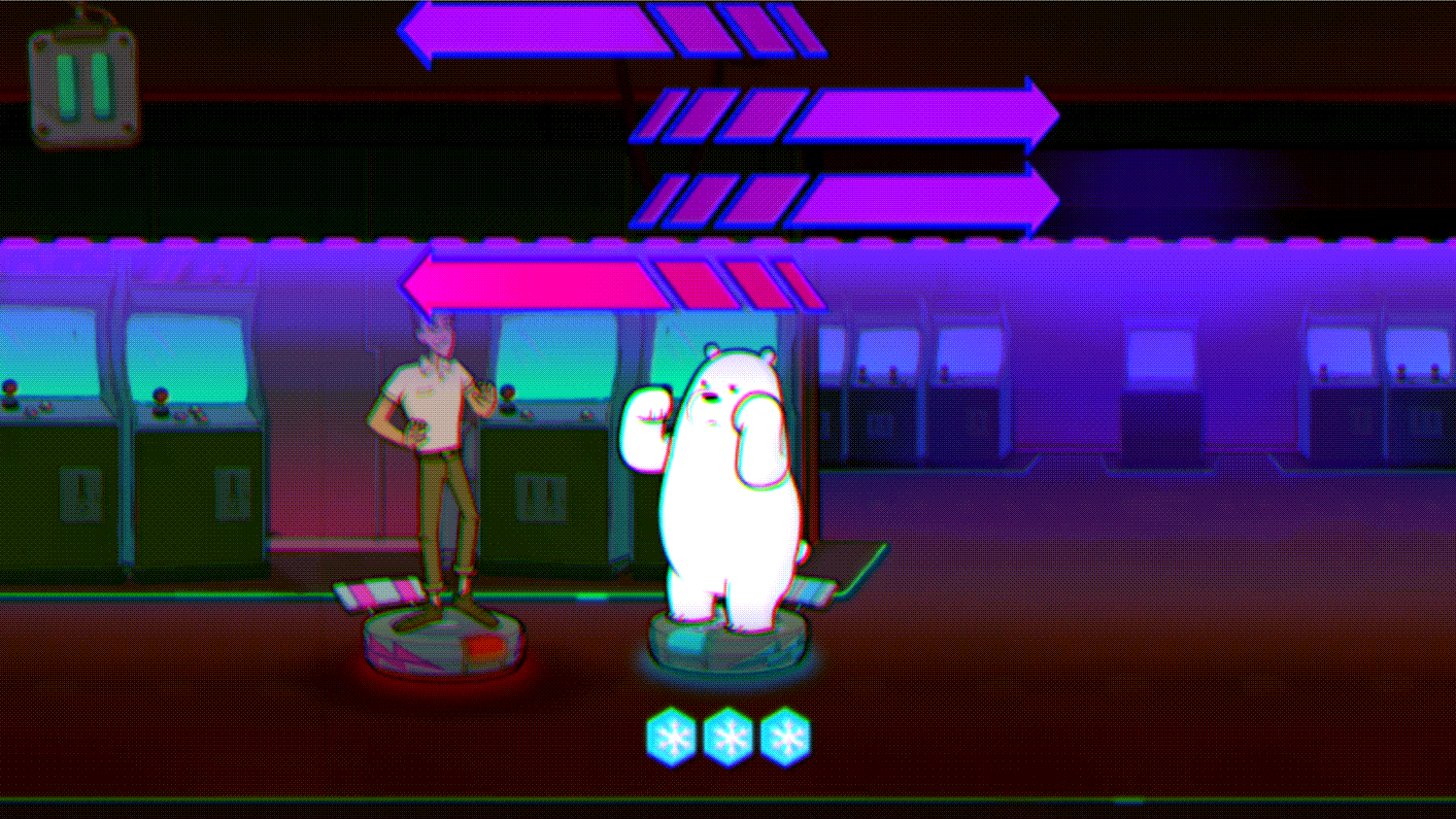 We Bare Bears Polar Force Final Boss Screenshot.
