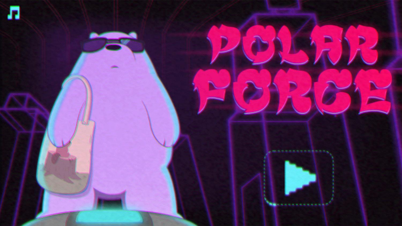 We Bare Bears Polar Force Welcome Screen Screenshot.