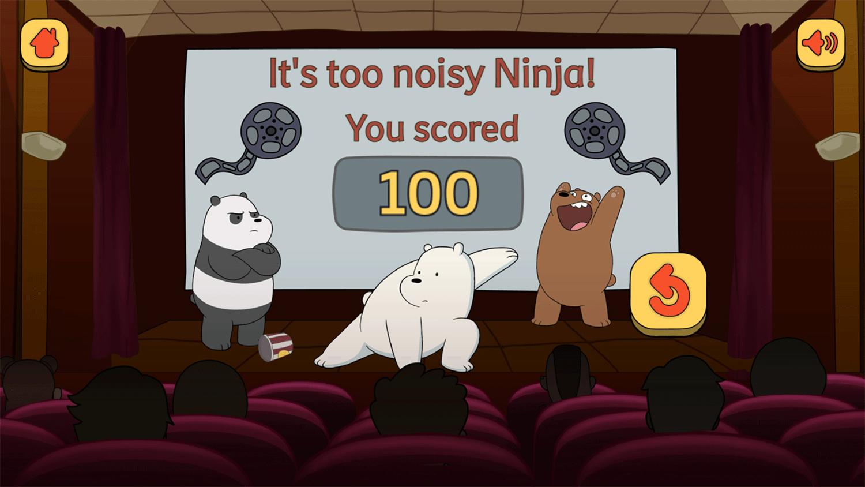 We Bare Bears Shush Ninjas Result Screenshot.