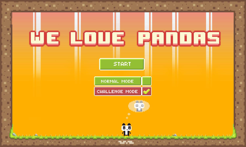 We Love Pandas Challenge Mode Screenshot.