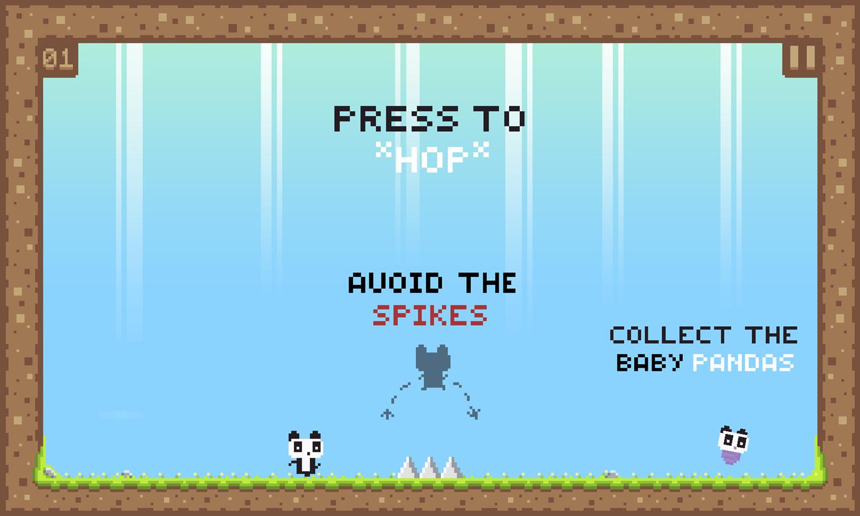 We Love Pandas Game How To Play Screenshot.