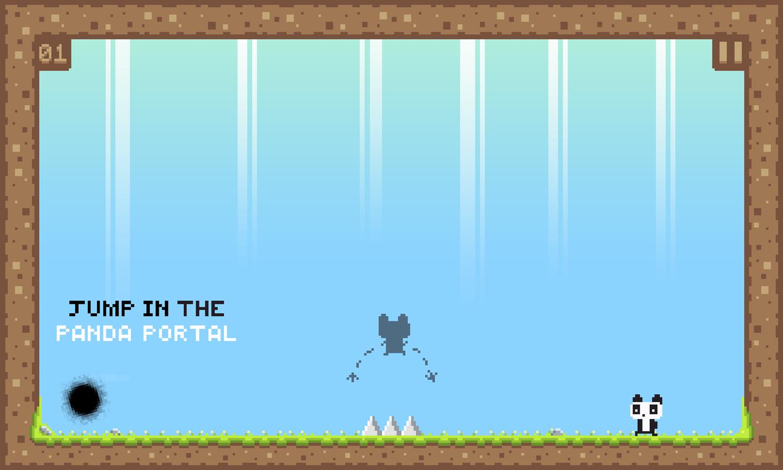We Love Pandas Game Instruction Screenshot.