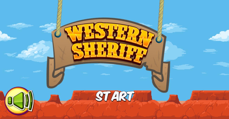 Western Sheriff Welcome Screenshot.
