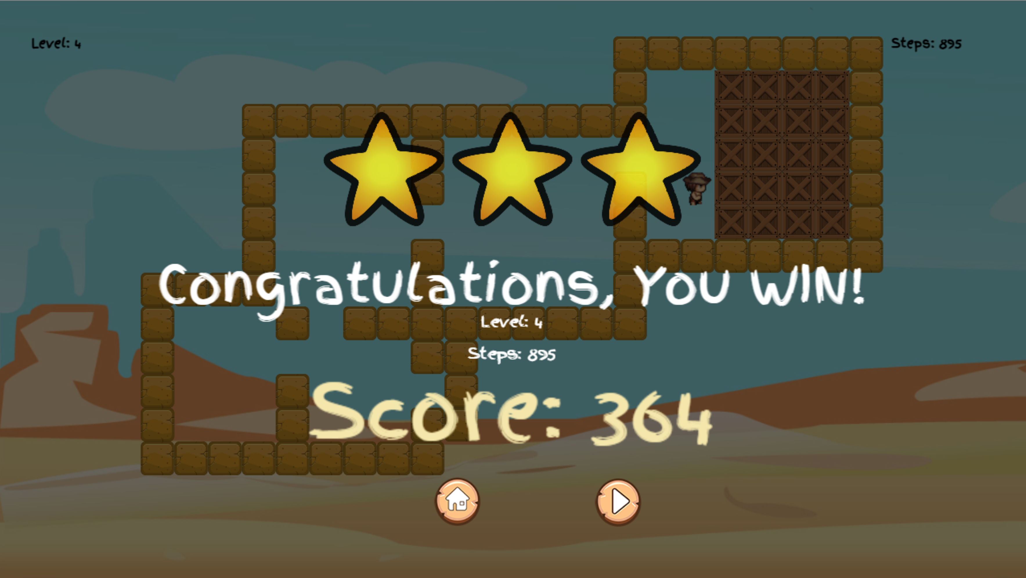 Wild Cowboy Level Beat Screenshot.