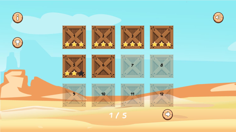 Wild Cowboy Level Select Screenshot.