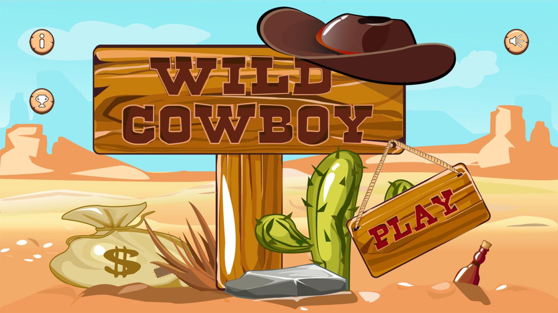 Wild Cowboy Welcome Screen Screenshot.