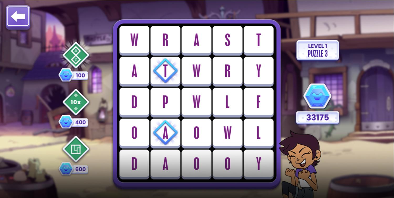 Word Play Game Reveal Screenshot.
