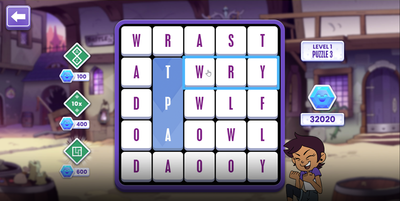 Word Play Game Stroke of Genius Screenshot.