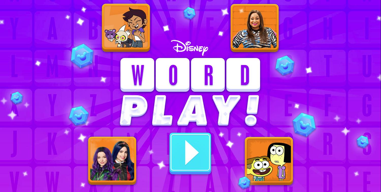Word Play Game Welcome Screen Screenshot.