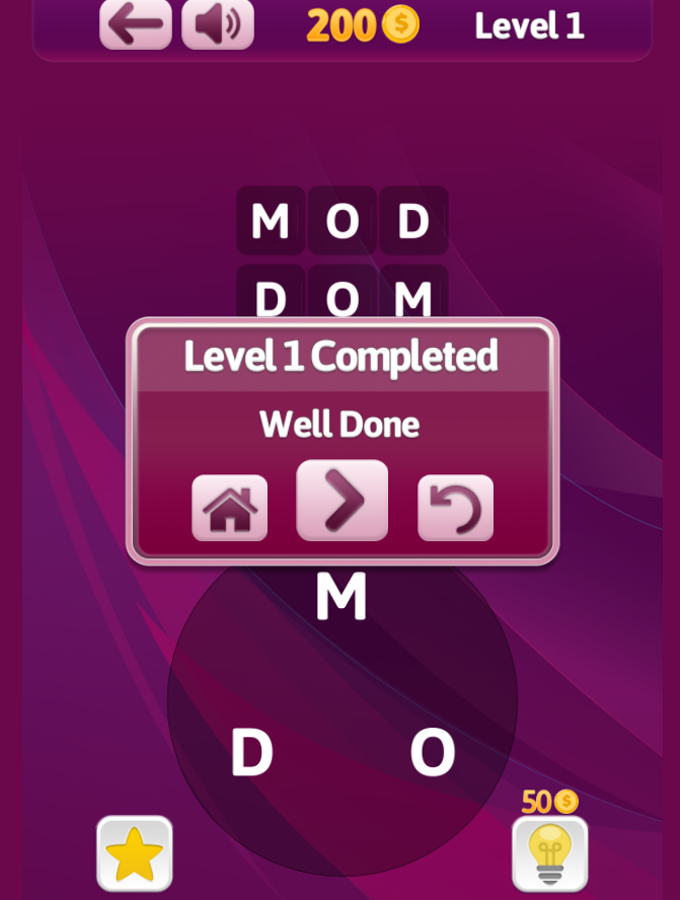 Wording Game Screenshot.