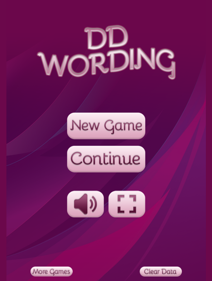 Wording Game Welcome Screenshot.