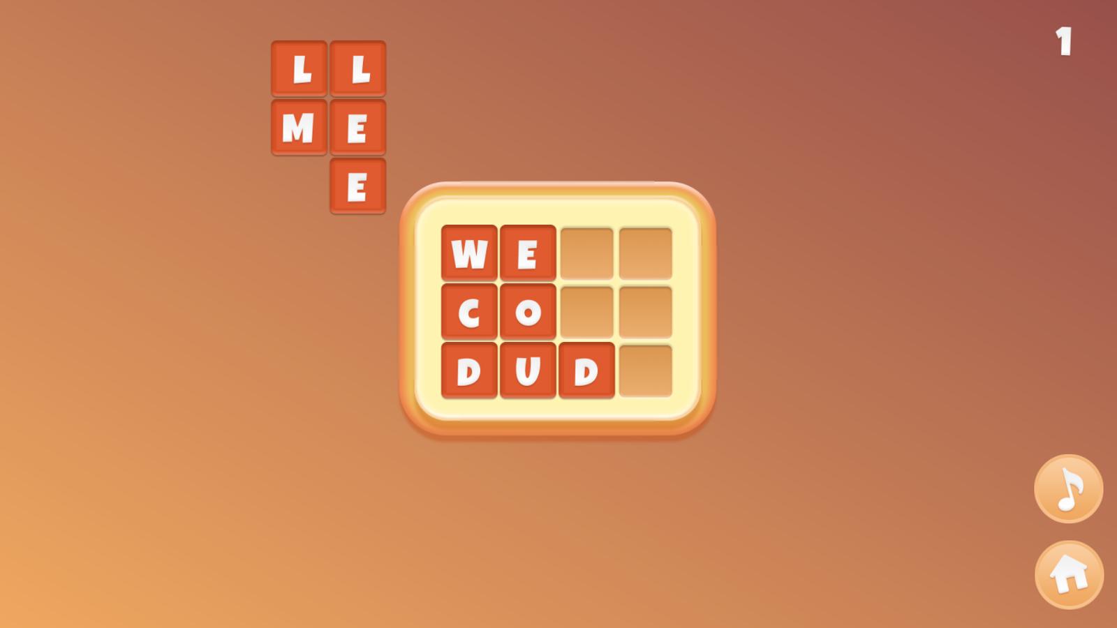 Words Family Game Screenshot.