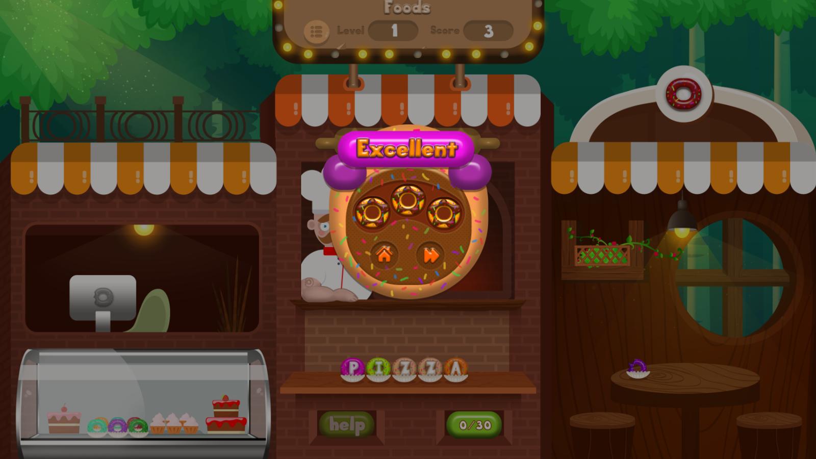 Yummy World Game Screenshot.