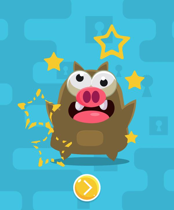 Zippy Boxes Level Beat Screen Screenshot.
