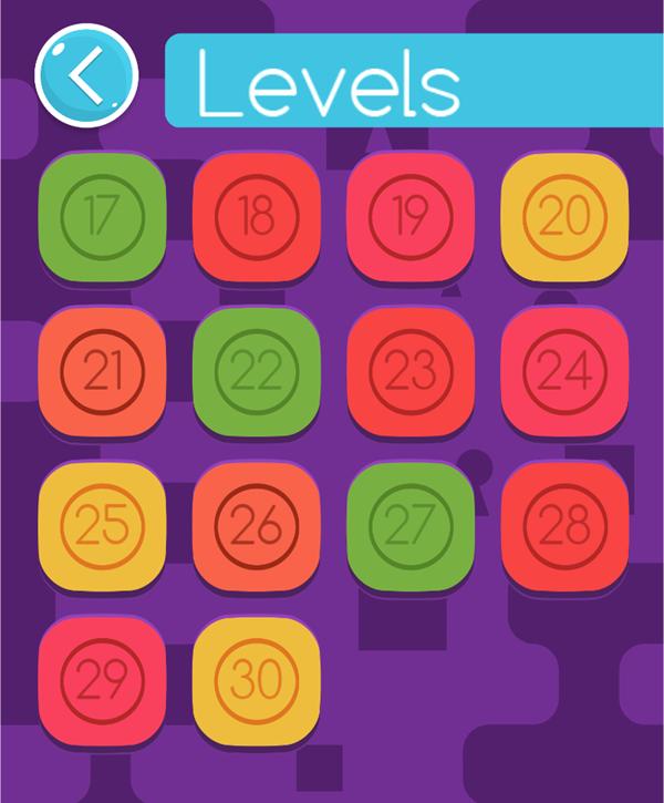 Zippy Boxes Level Select Screen Screenshot.