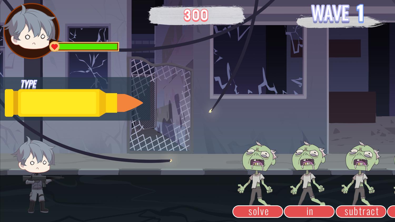 Zombie Typing Game Screenshot.