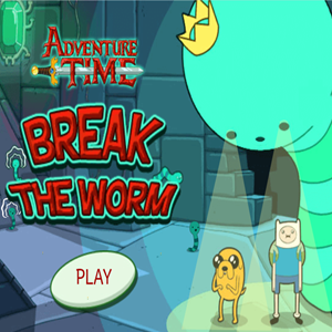 Adventure Time Break the Worm Game.