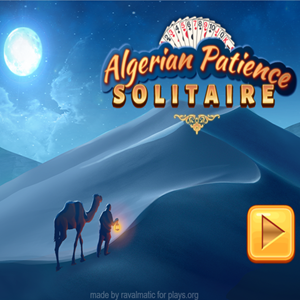Algerian Patience Solitaire Game.
