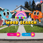 Amazing World of Gumball Word Search.