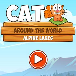 Cat Around the World Alpine Lakes.