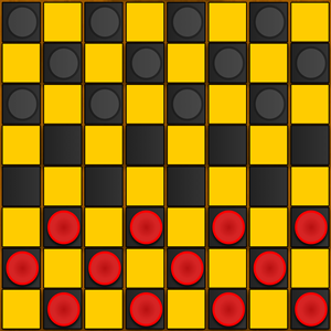 Checkers Game.