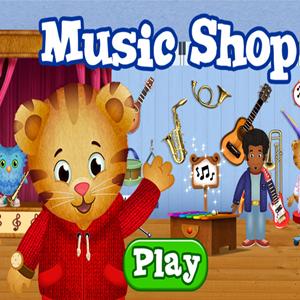 Daniel Tiger's Neighborhood Music Shop Game.