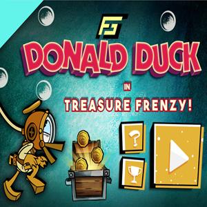 Donald Duck Treasure Frenzy Game.