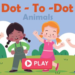 Dot to Dot Animals Game.