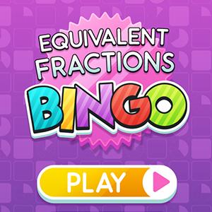 Equivalent Fractions Bingo.