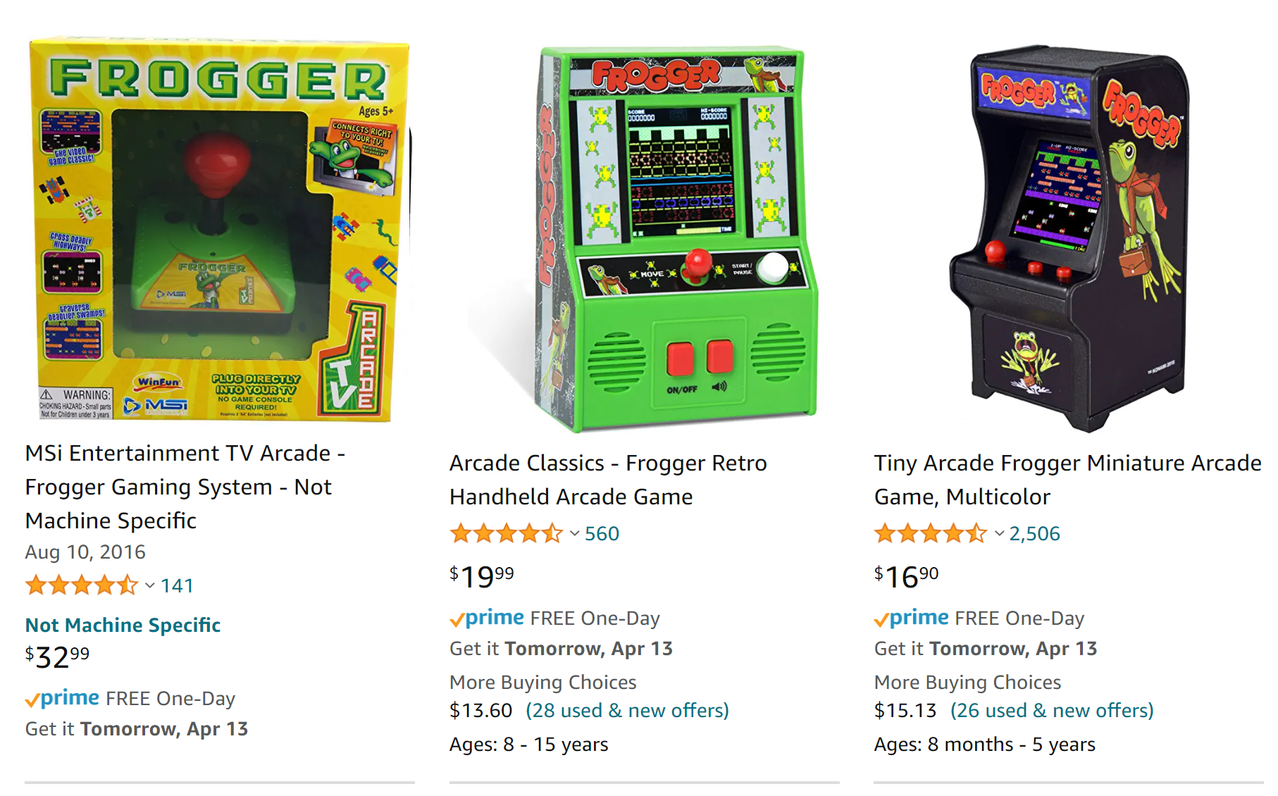 frogger games for sale on amazon.com