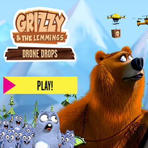 Grizzy and the Lemmings Drone Drops.