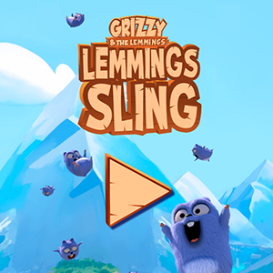 Grizzy and the Lemmings: Lemmings Sling.