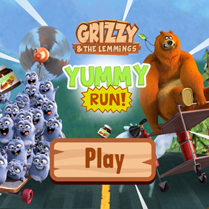 Grizzy and the Lemmings Yummy Run.