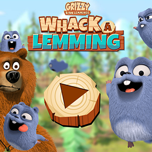 Grizzy Whack a Lemming.