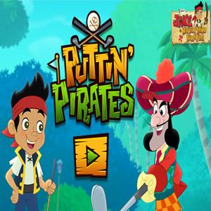 Jake and the Neverland Pirates Puttin Pirates Game.