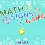 Math Signs Game.