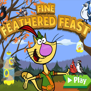Nature Cat Fine Feathered Feast.