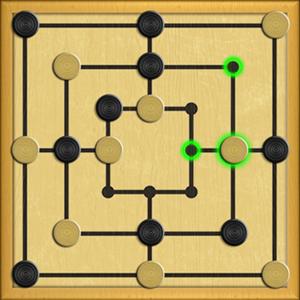 Nine Men's Morris Game.