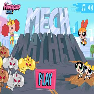Powerpuff Girls Mech Mayhem Game.