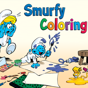Smurfy Coloring Game.