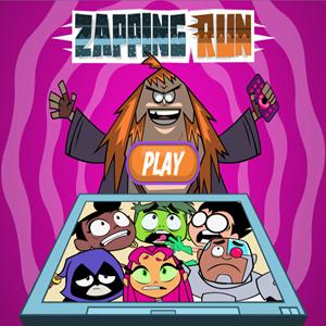 Teen Titans Go Zapping Run Game.