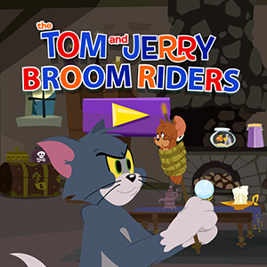 Tom and Jerry Broom Riders.