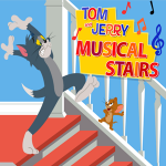 Tom and Jerry Musical Stairs Game.